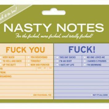 Fuck Nasty Notes - Naughty Sticky Notes by Knock Knock