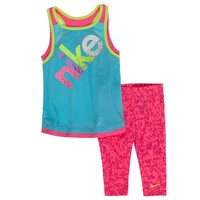 Nike Racerback Tunic & Capri Leggings Set - Baby Girl, Size: