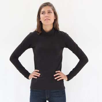 Kowtow Turtle Neck Organic Cotton Black