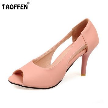 Peep Toe Thin Heel Hollow Fashion Footwear