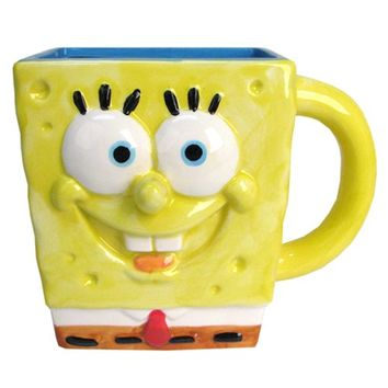 SpongeBob SquarePants 3D Mug - Silver Buffalo - SpongeBob SquarePants - Mugs at Entertainment Earth