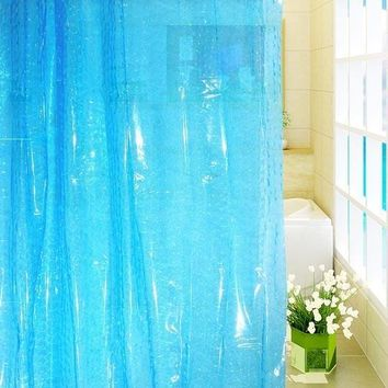 Feiqiong Brand PEVA Bathroom Shower Curtains 3D Waterproof Bath Curtain Solid Pattern 180*180CM High Quality