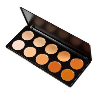 10 Color Professional Concealer Camouflage Makeup Beauty Cosmetic Palette  Face Cream Contouring Kit
