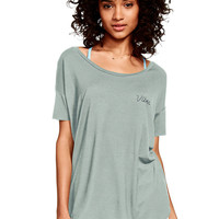 Super Soft Open Back Tee - PINK - Victoria's Secret