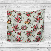Sunshine Floral Tropical Unique Dorm Home Decor Wall Art Tapestry