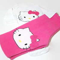 Hello Kitty Baby Girl Outfit - 3 - 6 Month Girl Clothes - Baby Girl Bodysuit and Pants