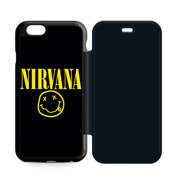 Nirvana Leather Wallet Flip Case iPhone 6 | 6S