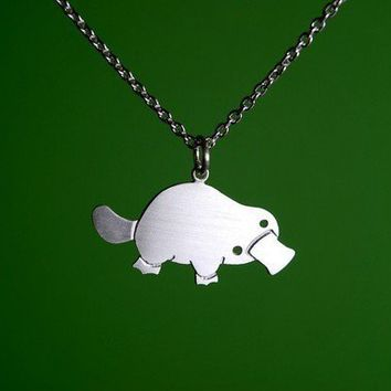Platypus Necklace by marymaryhandmade on Etsy