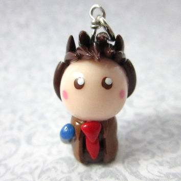 Doctor Who inspired 10th Doctor chibi charm
