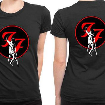 DCCKL83 Foo Fighter Touch The Wall 2 Sided Womens T Shirt