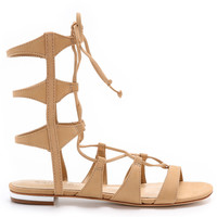 Schutz || Erlina gladiator sandals in light wood