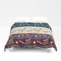 Morning floral pattern duvet cover