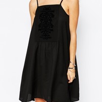 Band of Gypsies Slip Dress with Lace Paneling at asos.com
