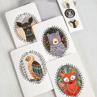 Critters More Than a Critter Bit Notecard Set by ModCloth