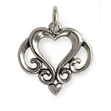 Ornate Open Heart Charm | James Avery