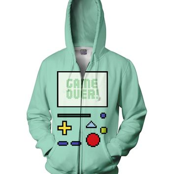 ROMH Game Over BMO Zip-Up Hoodie