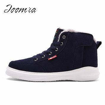 2017 New Fashion Men Winter Snow Boots Ankle Keep Warm Lace-up Waterproof Men Winter Shoes Workout Ski Boots