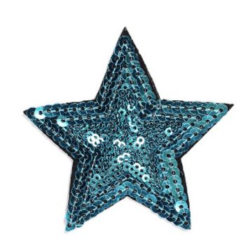 Sequin Star Iron-On Patch