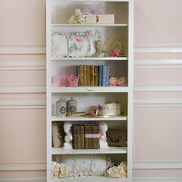 Bella Rose Bookcase with Fancy Legs - The Bella Cottage