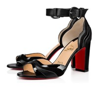 Degratissimo 85 Black Suede - Women Shoes - Christian Louboutin