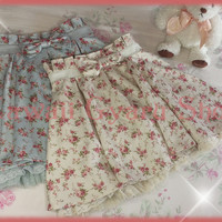 Liz Lisa High-Waist Silky Floral Skirt