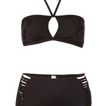 Black Strap Knot Cage Bikini - Bikini Sets - Swimwear - Clothing - Topshop