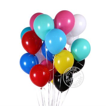 "20/50 PCS Birthday Wedding Baby Shower Party Matt Latex Balloons 10"" 2.3g"