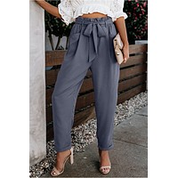 Melbourne Bow Tied Paper Bag Waist Pants