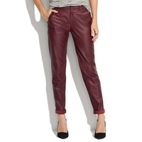 Leather Slim Trousers
