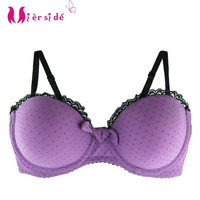 Mierside WX14049 Padded hot sale girls' bra comfortable push up women underwear Lovely purple bra 34 36 38 A B C D