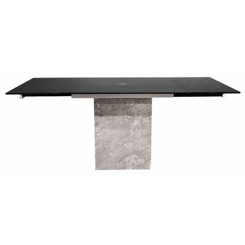 Onyx Extension Dining Table Grey Marble Base