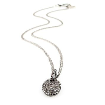 Champagne Pave Diamond Cirque Necklace - Everyday Diamonds - Jewelry