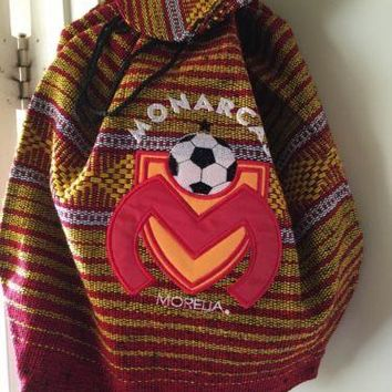 Mexican Backpack Handmade Indian Bag Soccer Tote Monarcas Morelia