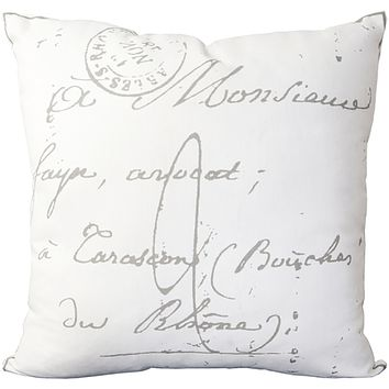 Montpellier Pillow ~ Cream
