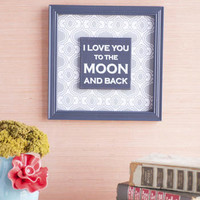 LOVE YOU TO THE MOON GEOMETRIC WALL ART