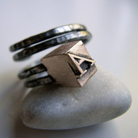 Mens monogram ring