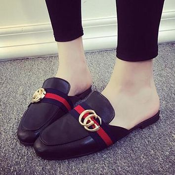 GUCCI Women Fashion Slipper Flats Mules Shoes
