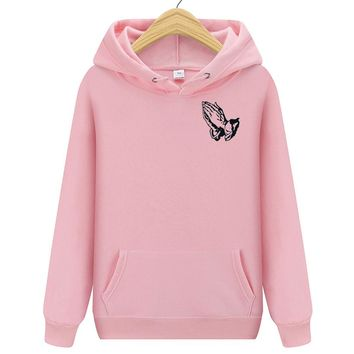 2018 New High Quality 1:1 Kanye West Hands Praying Hoodies Men Women Fear Of God High Street Sweatshirt skate Hip Hop Hoody
