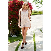 Sweet Little Flowers Romper (Cream)