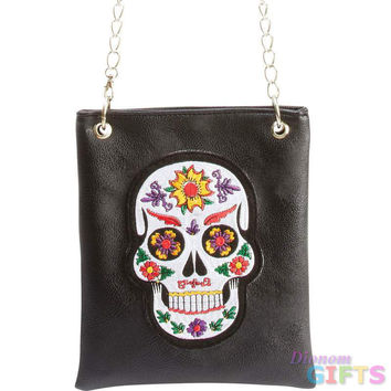 LADIES SUGAR SKULL PURSE