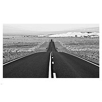 BLACK & WHITE PHOTO POSTER showing an open road FREESTYLE TRAVEL 24X36 rare