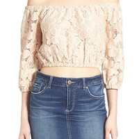 Tularosa 'Hadley' Off the Shoulder Lace Crop Top | Nordstrom