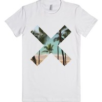 Beach xx-Female White T-Shirt