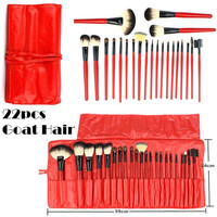 Hot Sale 22Pcs Color Red Makeup Brush Sets [9647073423]