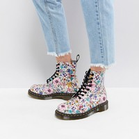 Dr Martens Pascal Lace Up Boot with Floral Print at asos.com