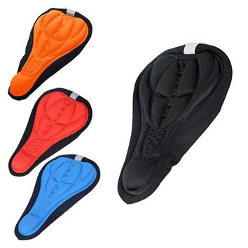 Cycling Bicycle Bike Silicone Saddle Seat Cover Silica Gel Cushion Soft Pad Bicicleta Silicone Saddle Brand New