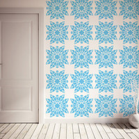 Scandinavian Flower, Nordic Style Large Wall Stencil for DIY project, Wallpaper look and easy Home Decor