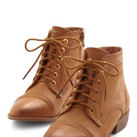 ModCloth Menswear Inspired Charm Beyond Compare Bootie in Tan
