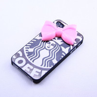 Iphone5 case cover,Red Bowknot iphone 5 Charm iphone5