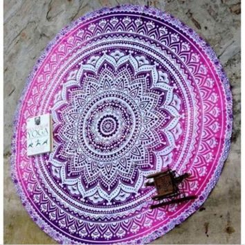 LMF9GW 2016 New Indian Round Mandala Tapestry Wall Hanging Throw Towel Beach Yoga Mat  beach cover up